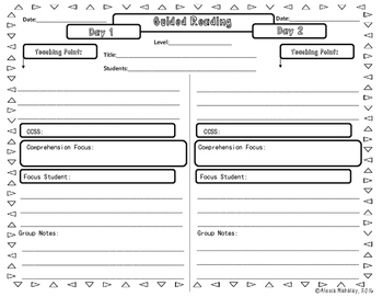 Anecdotal Notes/Guided Reading Template