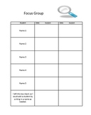 Anecdotal Notes Organizer for a Focus Group