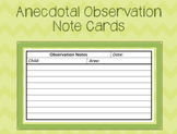 Anecdotal Observation Note Cards
