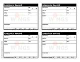 Anecdotal Records Form