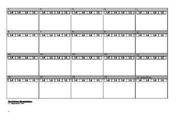 Anecdotal Squares Assessment Template