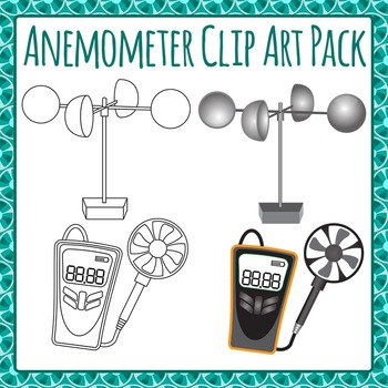Anemometer Wind Gauge Clip Art Pack for Commercial Use
