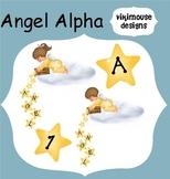 Angel Alphabet & Numbers Clip Art Digital Download