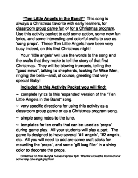 """""""Angel Band!"""" -- Christmas Group Game, Song, and Crafts"""
