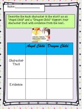 Angel Child Dragon Child Folktale Graphic Organizer