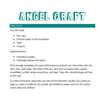 Angel Craft – Christmas Angel/Luminaries