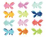 Angel Fish Clipart, Digital Clipart, Fish Clipart Set #006