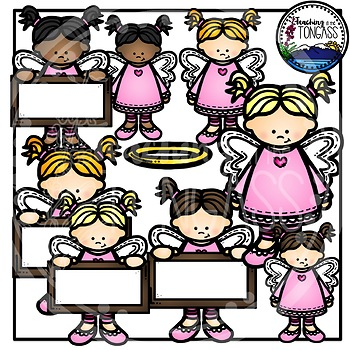 Angel Girls Clipart Bundle