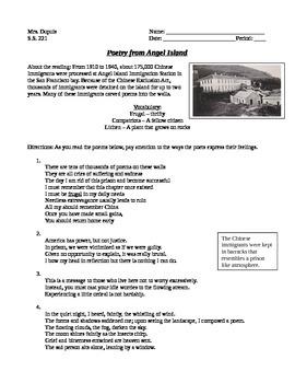 Angel Island Poetry