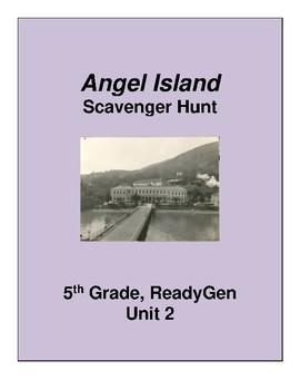 Angel Island Scavenger Hunt 5th grade ReadyGen Unit 2