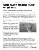 Angel Island: The Ellis Island of the West Informational E