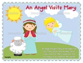 Angel Visits Mary Bible Story Craft and Activity