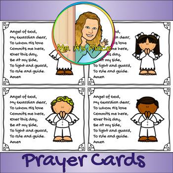 Angel of God Prayer Card 2