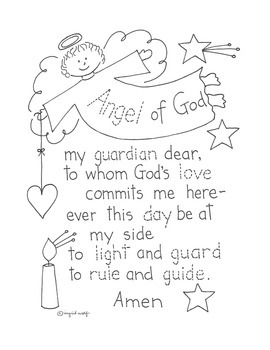 picture about Guardian Angel Prayer Printable referred to as Angel of God prayer