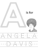 Angela Davis Coloring Sheet