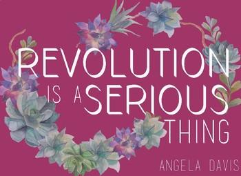Angela Davis Motivational Poster