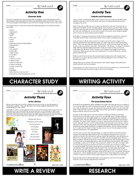 Angela's Ashes - Literature Kit Gr. 9-12 - BONUS WORKSHEETS