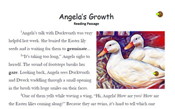 Angela's Growth - Bundle (Comprehension & Word Problems Bundle with Answers)