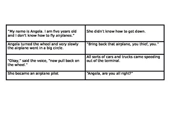 Angela's Airplane (Narrator vs. Character Graphic Organizer)