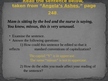 Angela's Ashes Capitalization