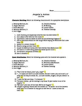 Angela's Ashes Unit Test