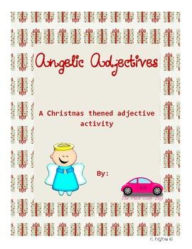 Angelic Adjectives 2nd grade Christmas theme