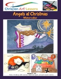 Angels At Christmas Drawing and Painting Art Lesson