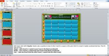 Angels, Bombs, and Guns Interactive PowerPoint Game