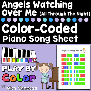 Angels Watching Over Me Easy-To-Play Color-Coded Song Sheet