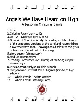 Angels We Have Heard on High - A Lesson in Carols