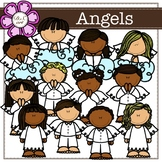 Angels digital Clipart (color and black&white)