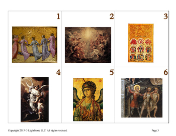Catholic Angels in the Bible Calendar Cards
