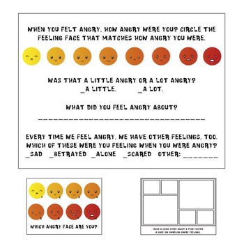 Anger Bundle: Regular and Special Education Mood Tracker