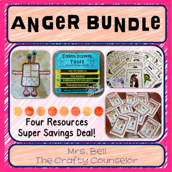 Anger Bundle (calm down tools, helping kids work through a