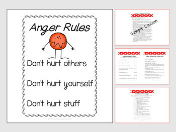 Anger Management Group or Individual Curriculum Bundle