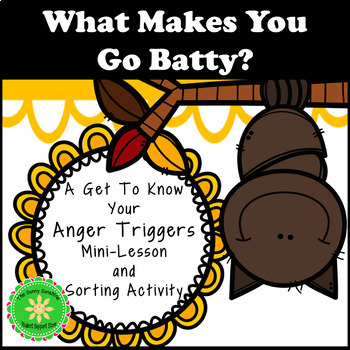 Anger Management- Anger Triggers Activity for Fall or Halloween