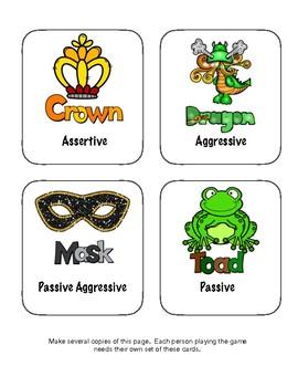Anger Management: Assertivness Skills Game
