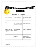 Anger Management BINGO boards
