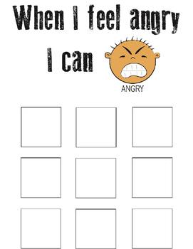 Anger Management Behaviour Chart for Students