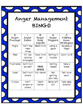 Anger Management Bingo