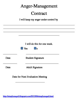 Anger Management Contract