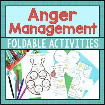 Anger Management Foldables - Spring Theme!