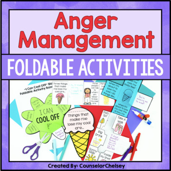 Anger Management Foldables - Summer Theme!