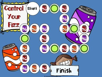 Anger Management Game & Activities Use w/ or w/o Soda Pop Head