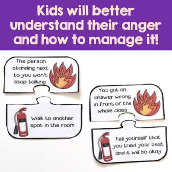 Anger Management Activities - Firefighter Themed