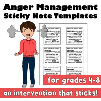 Anger Management Sticky Note Templates