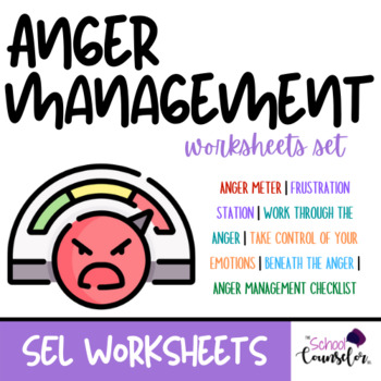 Anger Management Worksheets #1 by TheSchoolCounselor504 | TpT