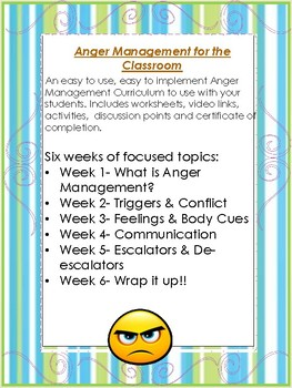Anger Management for the classroom