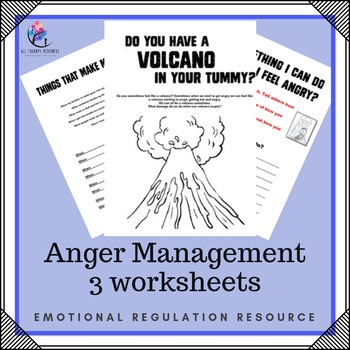 Anger Managment 3 Page Worksheet - Autism/ Challenging Behaviour Support