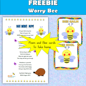 Worry Bee - poem and little bee cards